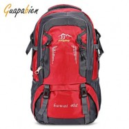 image of GUAPABIEN OUTDOOR HIKING CLIMBING SPORTS BACKPACK TRAVEL BAG (RED)