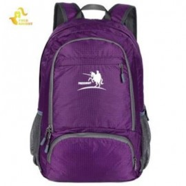 image of 35L NYLON FOLDING ULTRA LIGHT WATER RESISTANT BACKPACK SCHOOL BAG FOR CAMPING HIKING