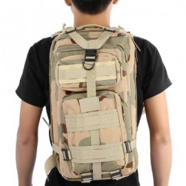 image of 3P MILITARY TACTICAL 30L OXFORD BACKPACK FOR CAMPING TRAVELING (THREE CAMOUFLAGE) 45.00 x 24.00 x 10.00 cm