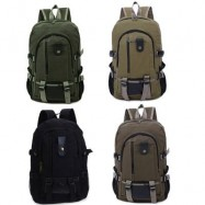 image of OUTDOOR ACTIVITY PORTABLE CANVAS ZIPPER LADDER LOCK BACKPACK VERTICAL