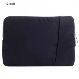 image of SSIMOO SHOCKPROOF NYLON FABRIC LAPTOP BAG TABLET POUCH SLEEVE FOR MACBOOK 13 INCH (BLACK)