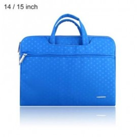 image of SSIMOO S818 2 IN 1 DOT PATTERN LAPTOP BAG TABLET ZIPPER POUCH SLEEVE FOR MACBOOK 14 / 15 INCH