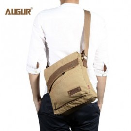 image of AUGUR 9088 CANVAS CROSS BODY SINGLE SHOULDER LAPTOP BAG WITH DURABLE STRAP