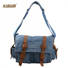 image of AUGUR 2138 CANVAS CROSS BODY SINGLE SHOULDER LAPTOP BAG WITH DURABLE STRAP