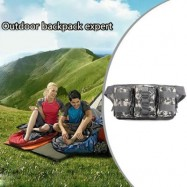 image of CASUAL WAIST BAG WITH FOR OUTDOOR ACTIVITIES TRAVEL (ACU CAMOUFLAGE)