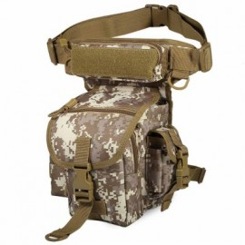 image of OUTDOOR MILITARY LEG BAG WATER-RESISTANT MULTI-FUNCTIONAL WAIST FISHING PACK BELT (MARPAT DESERT)