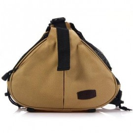 image of CADEN K1 NYLON TRIANGLE MESSENGER SHOULDER BAG WITH RAIN COVER FOR SONY NIKON CAMERA