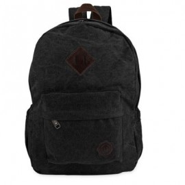 image of FASHION RETRO BACKPACK RUCKSACK LAPTOP SHOULDER TRAVEL CAMPING BAG (BLACK) 42.00 x 28.00 x 12.00 cm