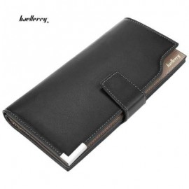 image of MEN SOFT SNAP FASTENER CLUTCH WALLET 20.50 x 11.00 x 4.00 cm