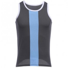 image of SIMPLE DESIGN MESH ROUND NECK SLEEVELESS MALE BREATHABLE VEST L