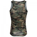 SEXY ROUND NECK CAMOUFLAGE COTTON BLEND TANK TOP FOR MEN L