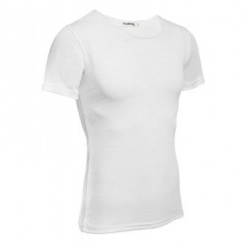 image of CASUAL ROUND COLLAR SHORT SLEEVE SOLID COLOR COTTON BLEND T-SHIRT FOR MEN (WHITE) XL