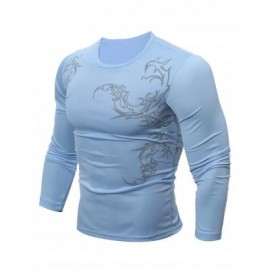 image of BREATHABLE TATTOO T-SHIRT (BLUE) M