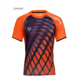 image of LINGSAI OUTDOOR 3D PRINT SHORT SLEEVE SPORTS SHIRT FOR MALE M