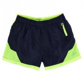image of CASUAL COLOR BLOCK ELASTIC WAIST DRAWSTRING SHORTS FOR MEN (DEEP BLUE) M