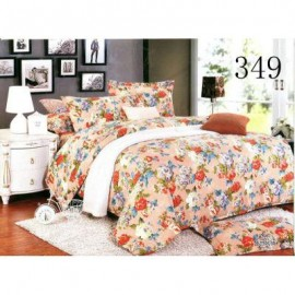 image of QUEEN SIZE FITTED BEDDING SET / 3PCS / FLOWER Queen