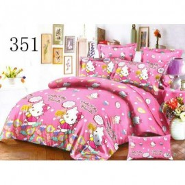 image of QUEEN SIZE FITTED BEDDING SET / 3PCS / KITTY Queen