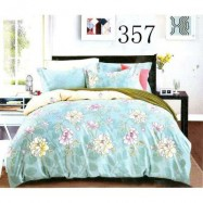 image of QUEEN SIZE FITTED BEDDING SET / 3PCS / SEA BLUE Queen