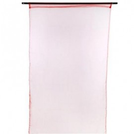 image of 1 X 2M PURE COLOR SHEER VOILE WALL ROOM DIVIDER WINDOW CURTAIN (RED) 100 X 200CM
