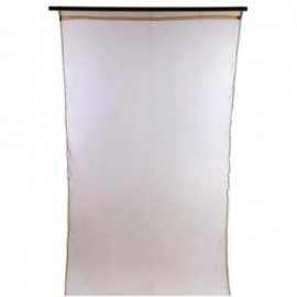 image of 1 X 2M PURE COLOR SHEER VOILE WALL ROOM DIVIDER WINDOW CURTAIN (COFFEE) 100 X 200CM