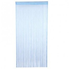 image of 200CM X 100CM TASSEL SILK STRING CURTAIN WINDOW DOOR DIVIDER SHEER CURTAIN (AZURE)