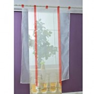 image of 140 X 140CM EUROPEAN WAVE BLINDS STITCHING COLORS VOILE PANEL WINDOW CURTAIN FOR LIVING ROOM BEDROOM (RED)