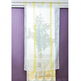 image of 140 X 140CM EUROPEAN WAVE BLINDS STITCHING COLORS VOILE PANEL WINDOW CURTAIN FOR LIVING ROOM BEDROOM (YELLOW)