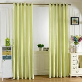 image of 100 X 250CM PURE COLOR GROMMET RING TOP BLACKOUT WINDOW CURTAIN (GREEN)