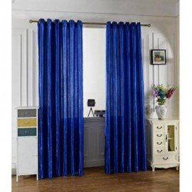 image of 100 X 250CM PURE COLOR GROMMET RING TOP BLACKOUT WINDOW CURTAIN (SAPPHIRE BLUE)