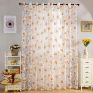 image of 270CM X 100CM FLORAL RUSTIC TULL VOILE DOOR WINDOW BALCONY CURTAINS PANELS DRAPES (COLORMIX)
