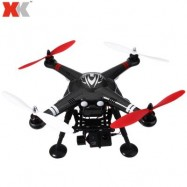 image of XK X380 - C 2.4GHZ 4CH GPS 5.8G FPV RC HEADLESS MODE TOP-LEVEL CONFIGURATION QUADCOPTER RTF WITH HD CAMERA AND 2-AXIS BRUSHLESS GIMBAL (BLACK)