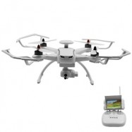 image of CG035 2.4GHZ 4CH 6-AXIS GYRO QUADCOPTER WITH GPS MODULE / AIR PRESSURE ALTITUDE HOLD (WHITE, 1080P VERSION) 1080p Version