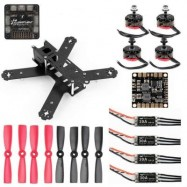 image of GB210 AIRFRAME CARBON FIBER 210MM WHEELBASE MULTIROTOR DIY FRAME KIT RACING DRONE 30A ESC F3 10DOF FLIGHT CONTROLLER (COLORMIX)