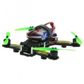 image of TAROT 130 TL130H1 MINI FPV RACING DRONE WITH BRUSHLESS MOTOR (BLACK AND GREEN) PAL FORMAT