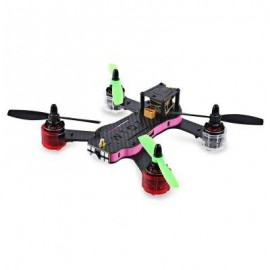image of REDCON PHOENIX 210 DIY QUADCOPTER WITH 976 X 582 CAM 5.8G FPV ALMOST-READY-TO-FLY VERSION (PINK)