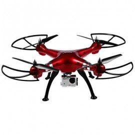 image of SYMA X8HG 8MP CAMERA 2.4GHZ 4CH 6 AXIS GYRO RC QUADCOPTER BAROMETER SET HEIGHT (RED)