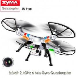 image of SYMA X8G HEADLESS MODE 2.4GHZ 6 AXIS GYRO RC QUADCOPTER WITH 8.0MP CAMERA 3D ROLL STUMBLING FUNCTION EU PLUG (SILVER) EU PLUG