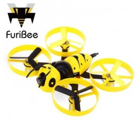 image of FURIBEE F90 90MM WASP MINI RC DRONE BNF 5.8G 40CH FPV 600TVL CAMERA CORELESS MOTOR FOR INDOOR RACING (YELLOW) VERSION 1