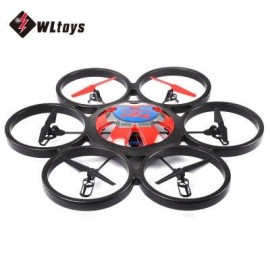 image of WLTOYS V323 2.4G 4CH 6-AXIS GYRO 2MP CAMERA RTF REMOTE CONTROL HEXACOPTER FLYING SAUCER DRONE TOY (BLUE) EU PLUG