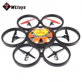 image of WLTOYS V323 2.4G 4CH 6-AXIS GYRO 2MP CAMERA RTF REMOTE CONTROL HEXACOPTER FLYING SAUCER DRONE TOY (ORANGE) EU PLUG