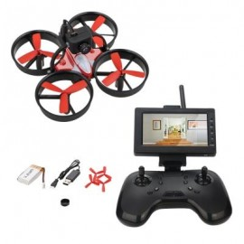 image of LIEBER BIRDY 1060 MINI FPV RC DRONE EQUIPPED WITH 600TVL HD CAMERA TRANSMITTER 4.3 INCH 5.8G 40CH LCD MONITOR RECEIVER (BLACK)