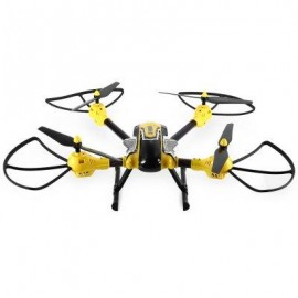 image of KAIDENG K70C HIGH HOLD SKY WARRIOR 2.4G 4CH 6 AXIS GYRO 3D FLIP HEADLESS MODE 2.0MP CAMERA RC QUADCOPTER (YELLOW AND BLACK)