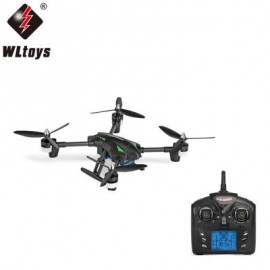image of WLTOYS Q323 - C RC DRONE RTF WITH 2MP CAMERA 2.4GHZ 6-AXIS GYRO AIR PRESS ALTITUDE HOLD HEADLESS MODE (BLACK)