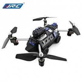 image of JJRC H40WH 2-IN-1 RC FLYING TANK QUADCOPTER - RTF WIFI FPV 720P HD / ONE KEY TRANSFORMATION / AIR PRESS ALTITUDE HOLD (BLACK)