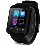 image of U8 SMARTWATCH WITH WATCH PASSOMETER TOUCH SCREEN TOUCH AND DIAL PHONE (BLACK) 4.80 x 4.10 x 1.20 cm