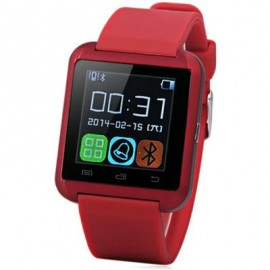 image of U8 SMARTWATCH WITH WATCH PASSOMETER TOUCH SCREEN TOUCH AND DIAL PHONE (ROSE MADDER) 4.80 x 4.10 x 1.20 cm