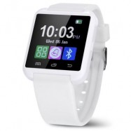 image of U8 SMARTWATCH WITH WATCH PASSOMETER TOUCH SCREEN TOUCH AND DIAL PHONE (WHITE) 4.80 x 4.10 x 1.20 cm