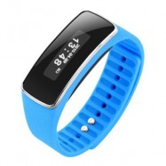image of V5S BLUETOOTH 4.0 SLEEP MONITOR SMART WRISTBAND SEDENTARY REMIND BRACELET (BLUE) 23.00 x 2.00 x 1.10 cm