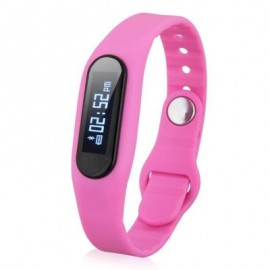 image of E06 SMART WRISTBAND BLUETOOTH 4.0 WATCH IP67 REMOTE CAMERA (PINK) 25.70 x 1.80 x 1.00 cm