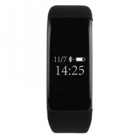 image of V66 HEART RATE MONITOR SMART WRISTBAND ANTI-LOST SEDENTARY REMIND BRACELET (BLACK) 25.50 x 2.30 x 1.10 cm